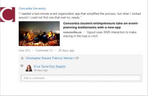 Université Concordia influente sur les médias sociaux