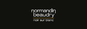 Normandin Beaudry noir sur blanc